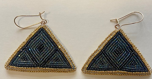 Earrings 16 - Pyramid Earrings with Gold