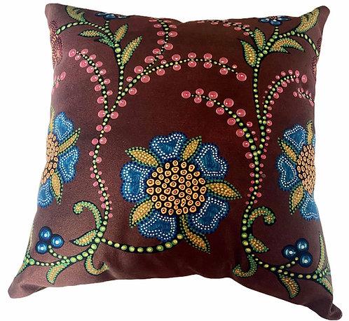Brow Floral Pillow - Leah Yellowbird