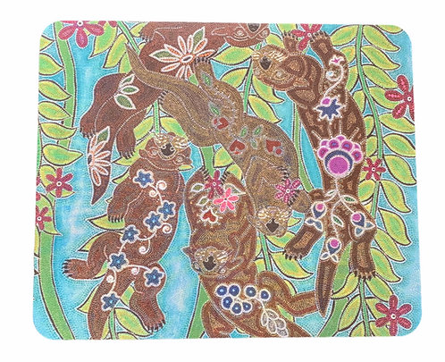 """Mouse Pad - """"Otters"""" - Leah Yellowbird"""