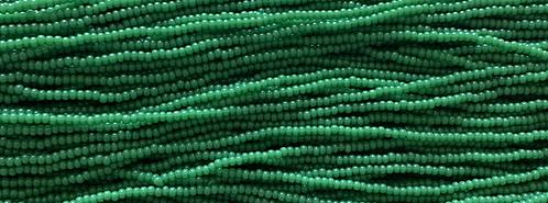 11SB280R: CZECH SEED BEAD OPAL GREEN 11/0