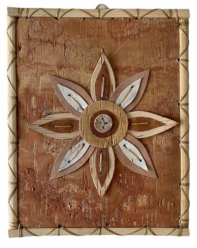 Star Pattern Birchbark Painting