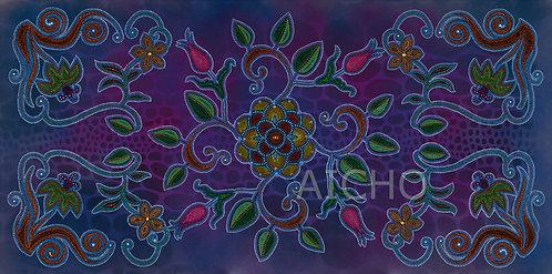 Purple Floral - Leah Yellowbird