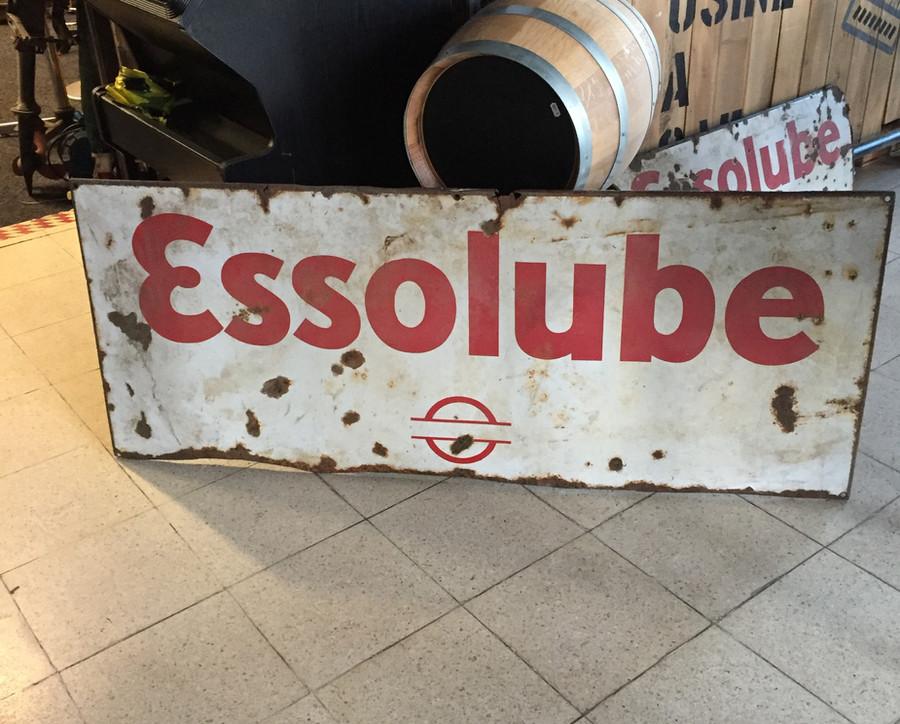 PLAQUE ESSOLUBE EMAILLER