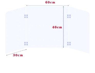 Clear Foldable Acrylic Student Desk Shield