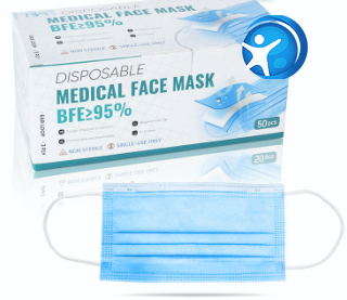 Disposable 3 Ply Medical Face Masks (Adult)