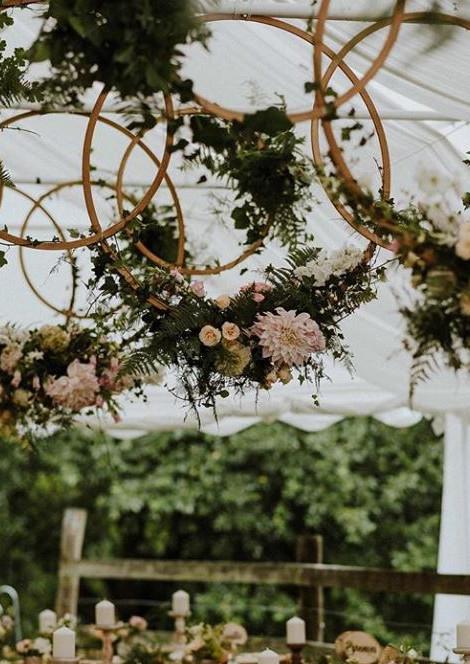 Rustic Boho Flower Hoops | Chocolate Falls