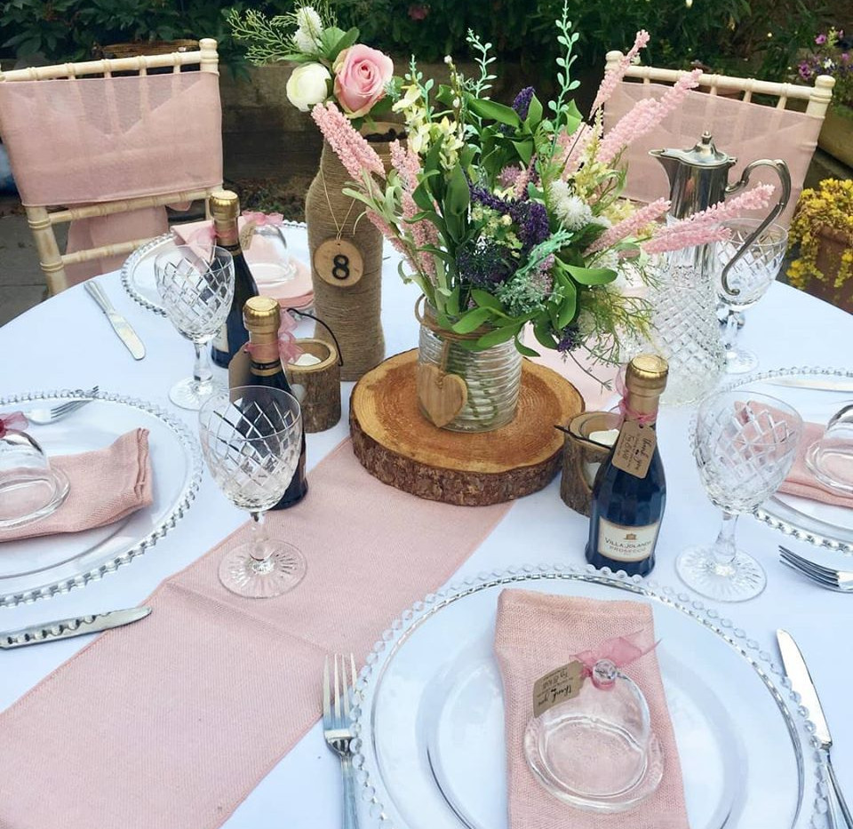 Rustic Pink Table Setting | Chocolate Falls