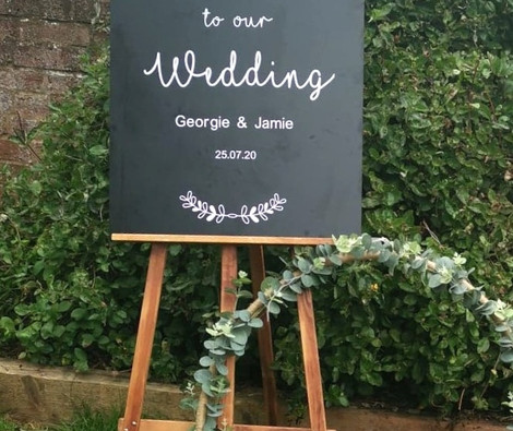 Personalised Welcome to our wedding Sign   Chocolate Falls
