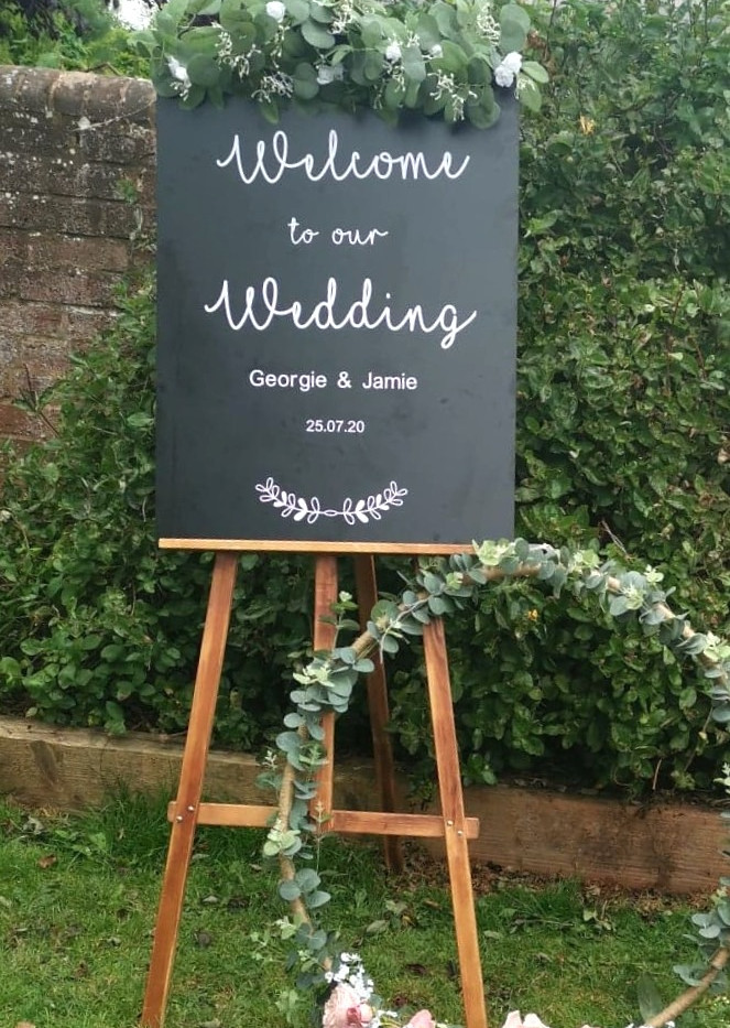 Personalised Wedding Chalkboard Sign | Chocolate Falls
