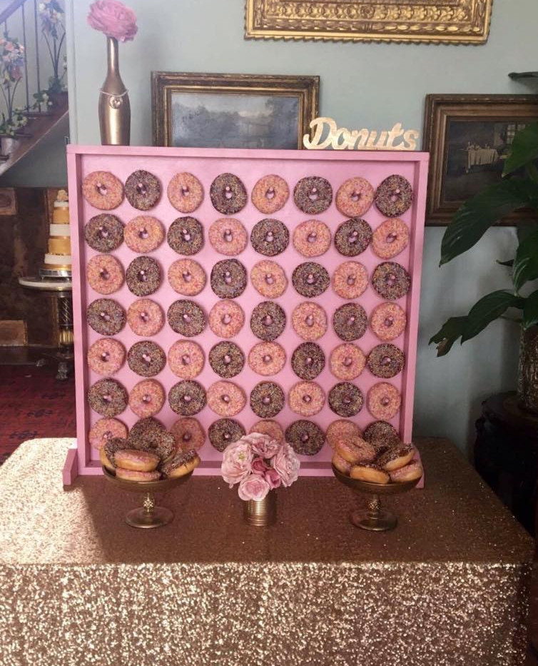 Glam donut wall Hire | Chocolate Falls