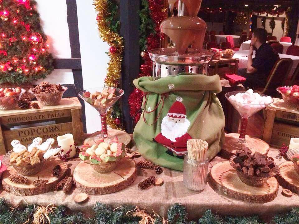 Christmas Party Chocolate Fountain | Chocolate Falls