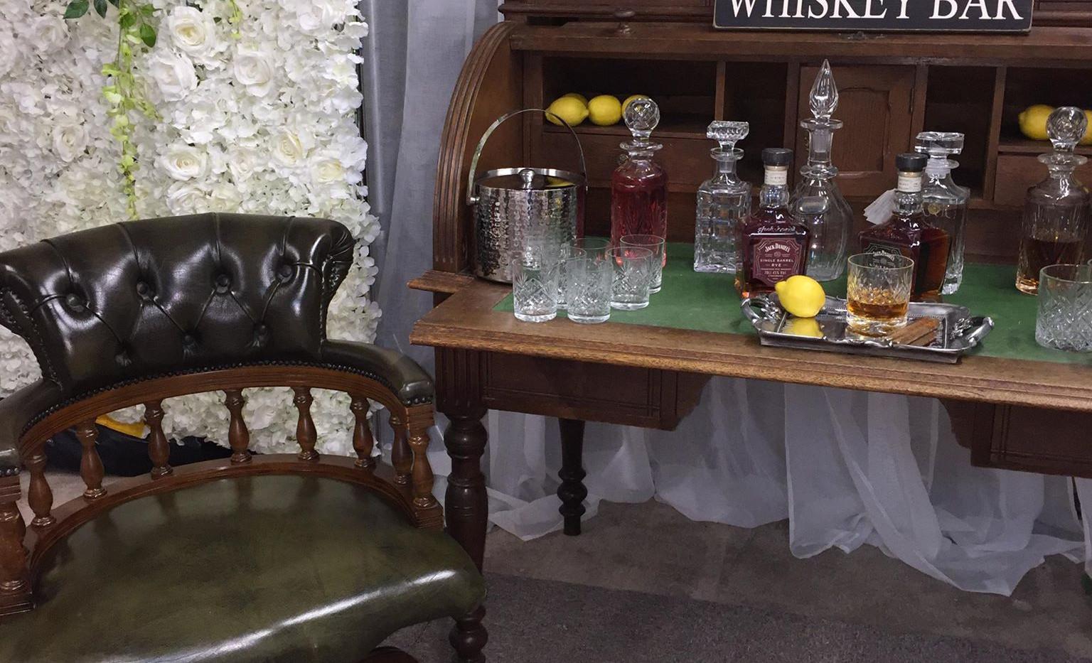 Whiskey Bar Desk | Chocolate Falls
