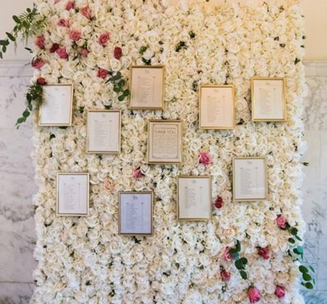 Flower Wall Table Plan Personalised   Chocolate Falls