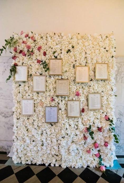 Flower Wall Table Plan Boho | Chocolate Falls