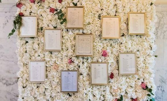 Flower Wall Table Plan | Chocolate Falls