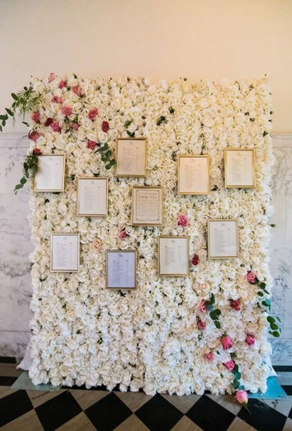 Flower Wall Table Plan Personalised | Chocolate Falls