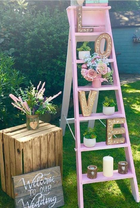 Wedding Ladder Display | Chocolate Falls