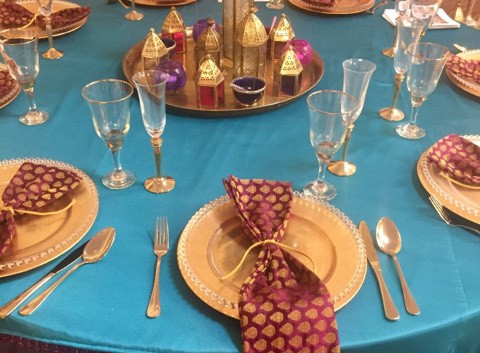 Moroccan event table setting hire | Chocolate Falls