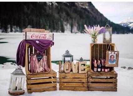 Wedding Crate Blanket Storage | Chocolate Falls