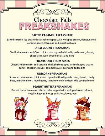 Freakshake Menu | Chocolate Falls