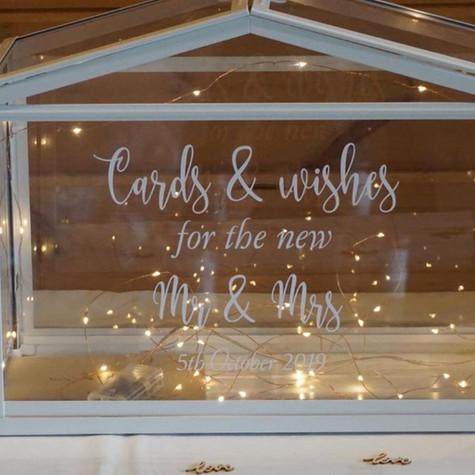 Glass Personalised Wedding Post Box   Chocolate Falls