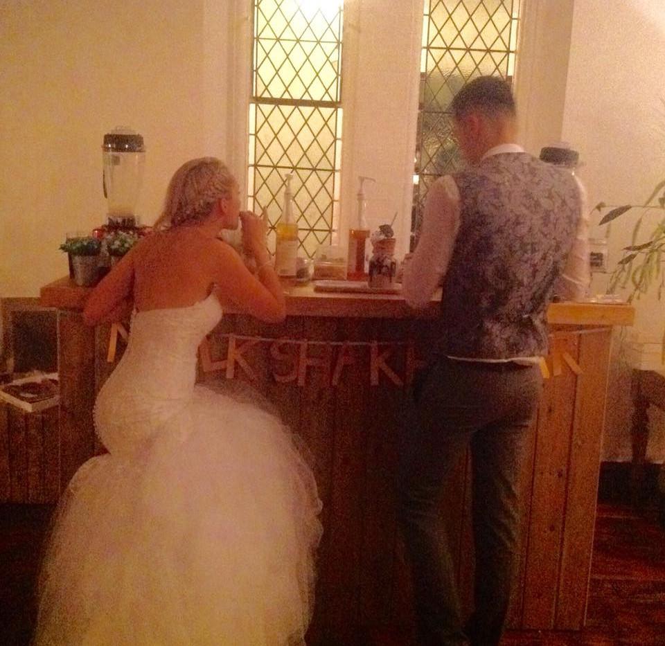 Wedding Couple Freakshake Bar   Chocolate Falls