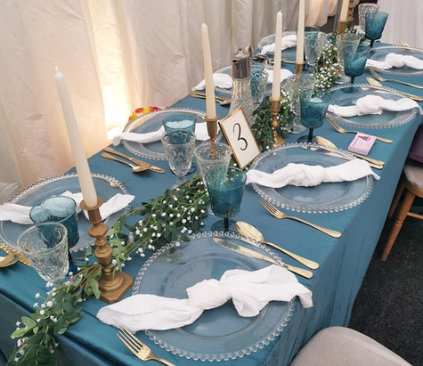 Clear Glass Beaded Chargers Hire | Chocolate Falls