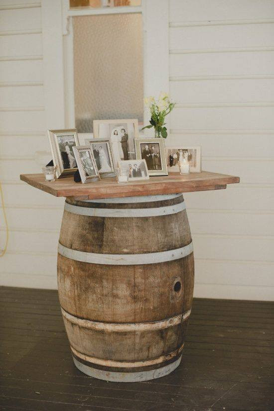 Picture Table Wedding Display | Chocolate Falls