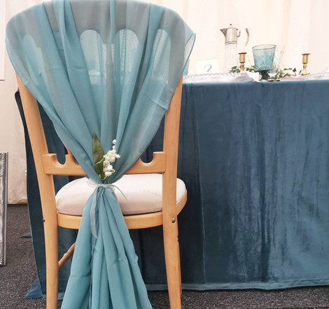 Blue Chair Cover Event & Wedding | Chocolate Falls