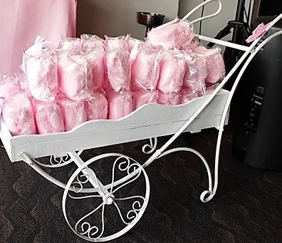 Candyfloss in a Cart Wedding | Chocolate Falls