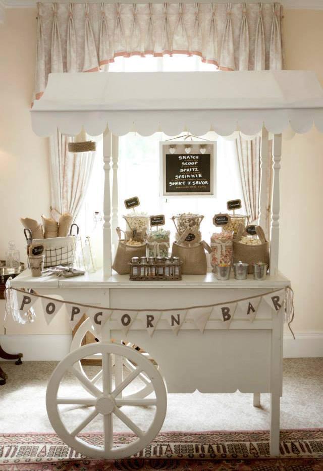 Popcorn Cart Wedding | Chocolate Falls