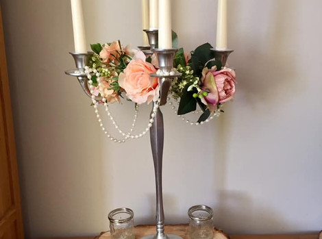 Faux Flower Candelabra Hire   Chocolate Falls