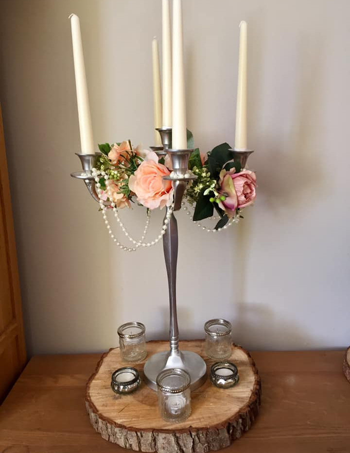 Faux Flower Candelabra Hire | Chocolate Falls