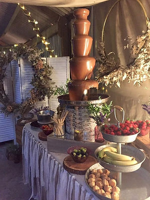 Rustic Boho Chocolate Fountain | Chocolate Falls