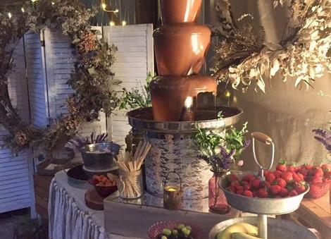 Rustic Boho Chocolate Fountain   Chocolate Falls