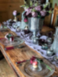 Winter Plum Table Setting Event Hire | Chocolate Falls