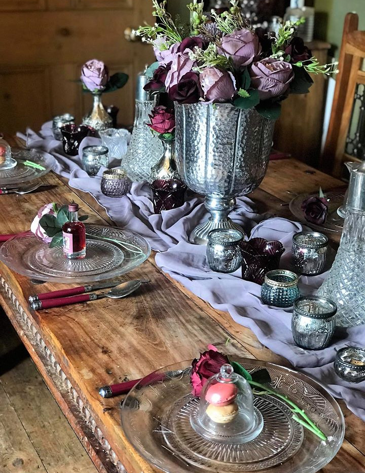 Winter Plum Table Dressing | Chocolate Falls