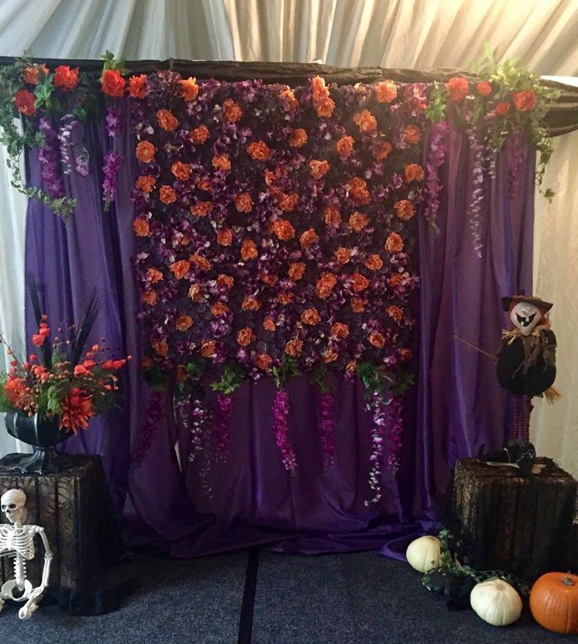 Halloween Flower Wall | Chocolate Falls