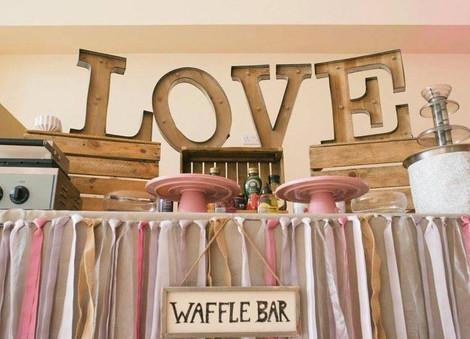 Rustic Waffle Bar | Chocolate Falls
