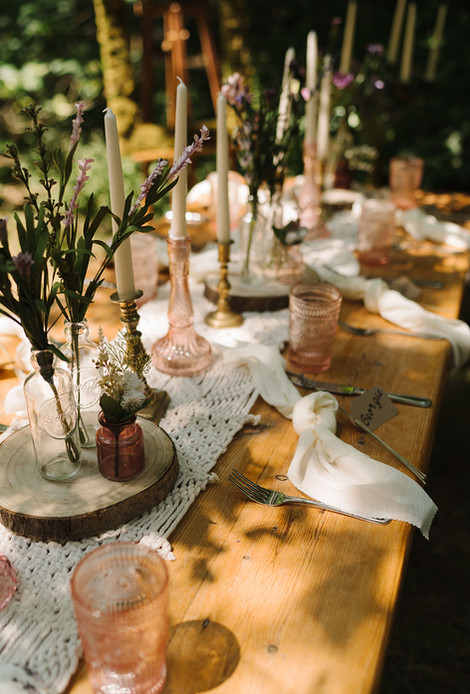 Woodland Table Setting Boho Country | Chocolate Falls