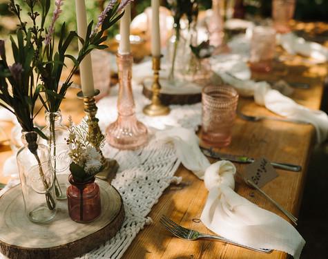 Woodland Wedding Table Setting   Chocolate Falls