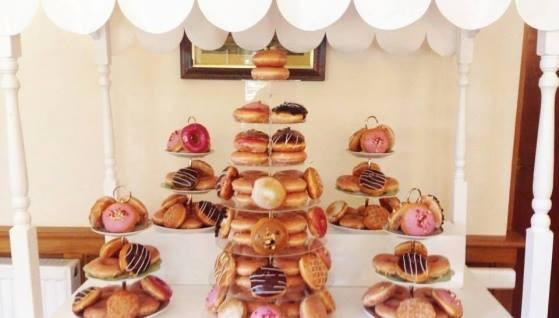 Donut Cart Wedding Display | Chocolate Falls