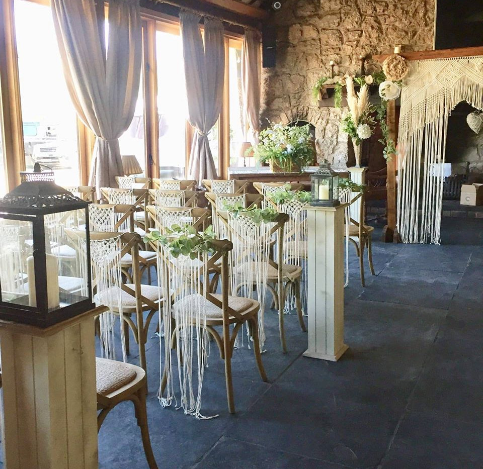 Macrame Chair Covers - Cermony | Chocolate Falls