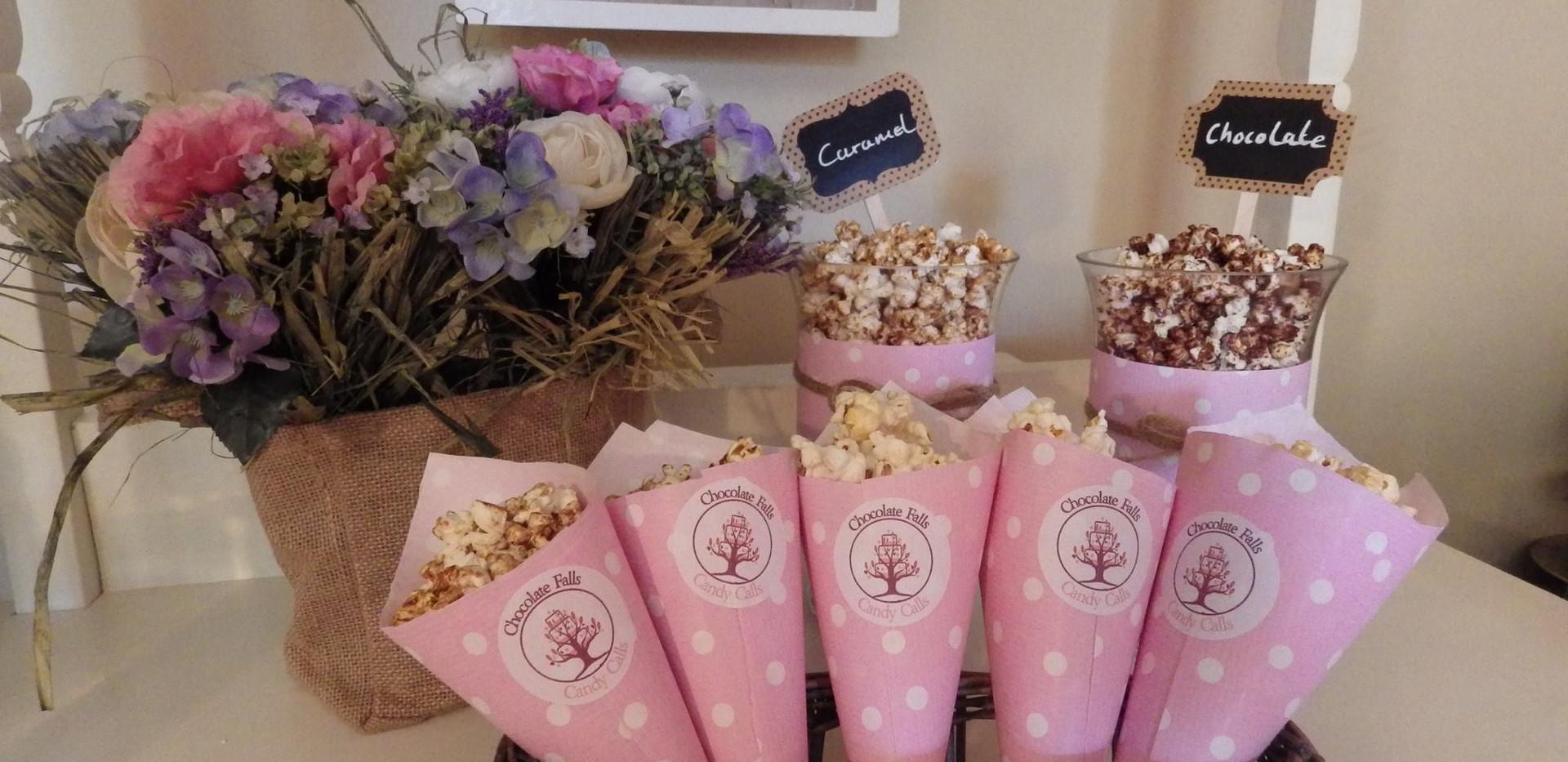 Popcorn Wedding Treats | Chocolate Falls