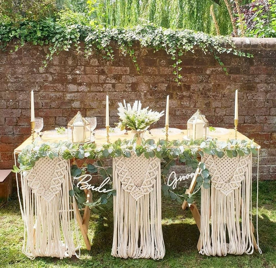 Macrame Top Table Bunting | Chocolate Falls