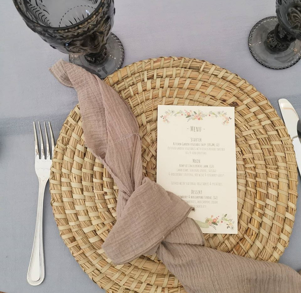 Bamboo Placemats Rustic Wedding | Chocolate Falls