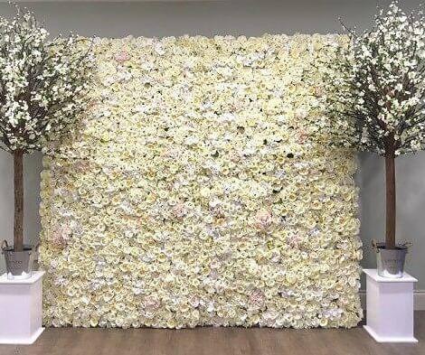 White Flower Wall & Tree Hire   Chocolate Falls