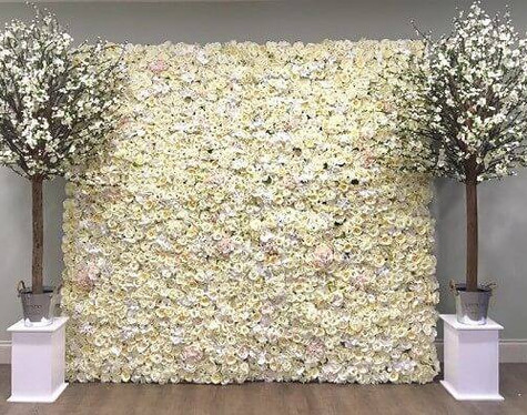White Flower Wall Event   Chocolate Falls