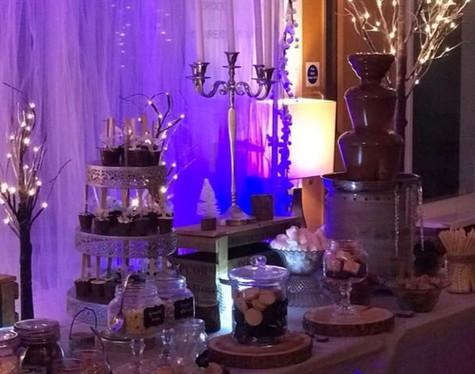 Winter Wonderland Wedding Light up Twigs   Chocolate Falls