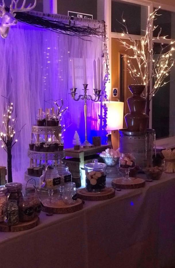 Winter Wonderland Wedding Light up Twigs | Chocolate Falls